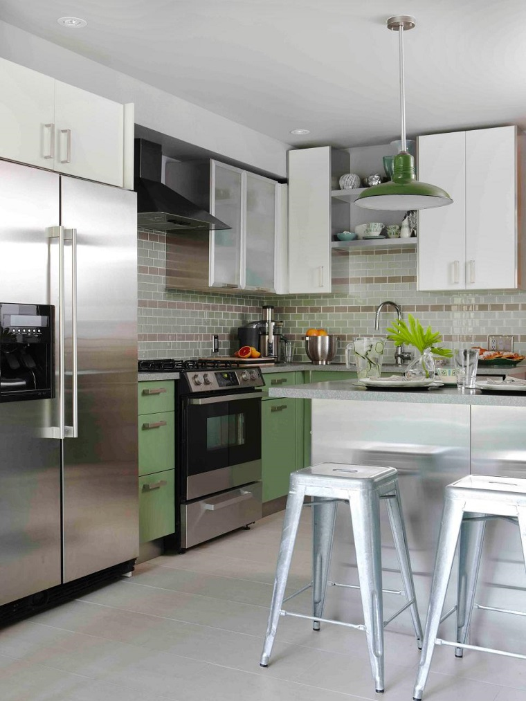 50 impresionantes ideas para cocinas peque as ar cocinas - Ideas de cocinas pequenas ...